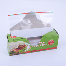 Food Grade Plastic Resealable Bag Durable Singel Sealed Sanwich Ziplock Bag