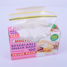 Food Grade Resealable Self Seal Custom Ziplock Bag Airtight Zip Plastic Bag