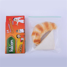 LDPE Resealable Plastic Zipper Bag With Singel Zipper Clear Sandwich Bag