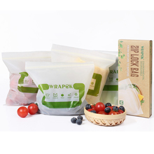 Corn Starch Compostable Plastic Biodegradable Food PLA Plastic Ziplock Bags