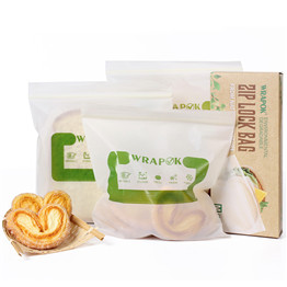 Compostable Corn Starch Biodegradable PLA Food Packaging Plastic Ziplock Bags