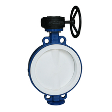 Handle Operated Rubber Lined Wafer Butterfly Valve