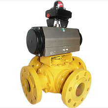 Stainless Steel Flange Multi Port 4 Way Ball Valve