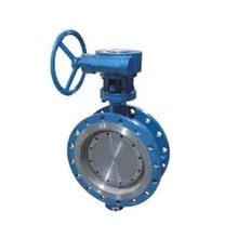 Center Line Manual Double  Flange Butterfly Valve
