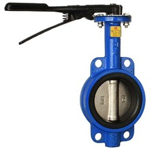 Hydraulic triple eccentric lug type wafer butterfly valve