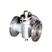 Flanged stainless steel 3way plug valve