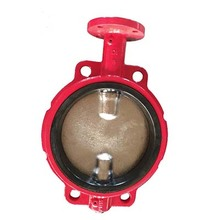 DIN ANSI Cast Iron Wafer Type Butterfly Valve
