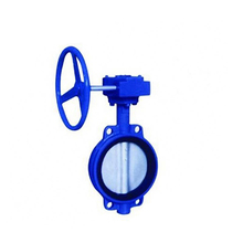 DN80 wafer type cast iron butterfly valve