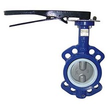 Cast iron wafer type 1 inch butterfly valve gearbox