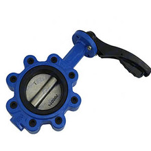Manual Cast Iron Handle Soft Seal Wafer Butterfly Valve