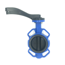 Rubber Soft Seal Coated Disc Center Line Resilient Seated Wafer Butterfly Valve