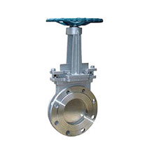 Manufacturer Direct DN100 4 Inch Cast Steel Flanged Manual Slurry Knife Gate Valve With Handwheel