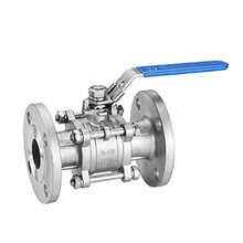 Api a216 wcb carbon steel cast steel cf8m 3pc flange ball valve