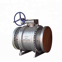Api worm gear cast iron cast steel floating type full bore ball valve