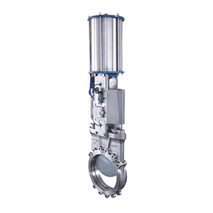 Air actuated stainless steel ss304 ss316 slab knife type gate valve