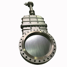 Heavy duty OEM raised face flange safety knife type slurry gate valve