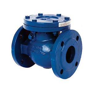 Cast iron flange swing type check valve