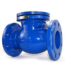 Dn100 pn16 water dual sandwich double din cast iron flanged swing type check valve