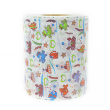 Raw Material for Baby Diapers Customized Roll Printed Web Front Waist Stickers