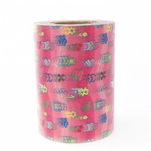 China Manufacturer 100% Colorful Suede Front Waist Stickers for Raw Material Baby Diaper
