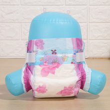 Hot sale OEM Baby Diapers with Magic Tape cute pink flower PE back sheet free samples diaper nappy manufacturer in China