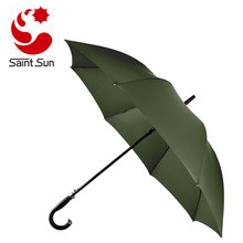 54 Inch Automatic Open Cane Umbrella Teflon Rain Repellant Fabric Protection Extra Large Full Size Windproof Frame
