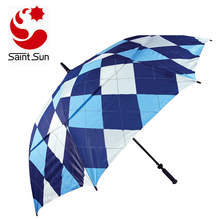 61-Inch Golf Umbrella Windproof heat transfer printing Extra Large Oversize Stick Umbrellas