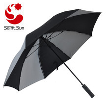 Auto Open Windproof Straight Umbrella With Reflective Canopy for sale