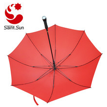 Auto open LED light golf umbrella