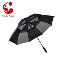 Auto open windproof golf umbrella for promotion