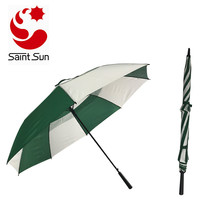 Automatic Open Golf Umbrella vented canopy for sale