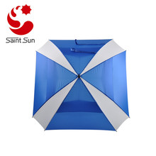 Outdoor Sports Golf Double Layer Windproof Square Shape Umbrella best golf umbrella
