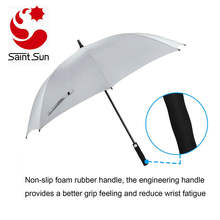 Windproof Golf Umbrella 62 inch Oversize Canopy Automatic Open Large Outdoor Golf umbrella Rain