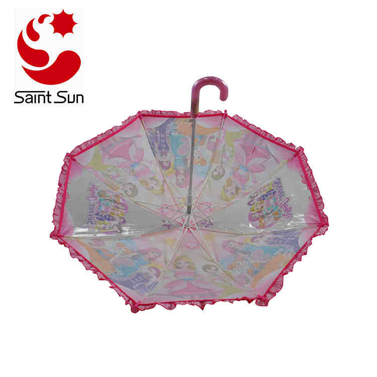 Nice Safty Kids Umbrella with Ruffles for Girls