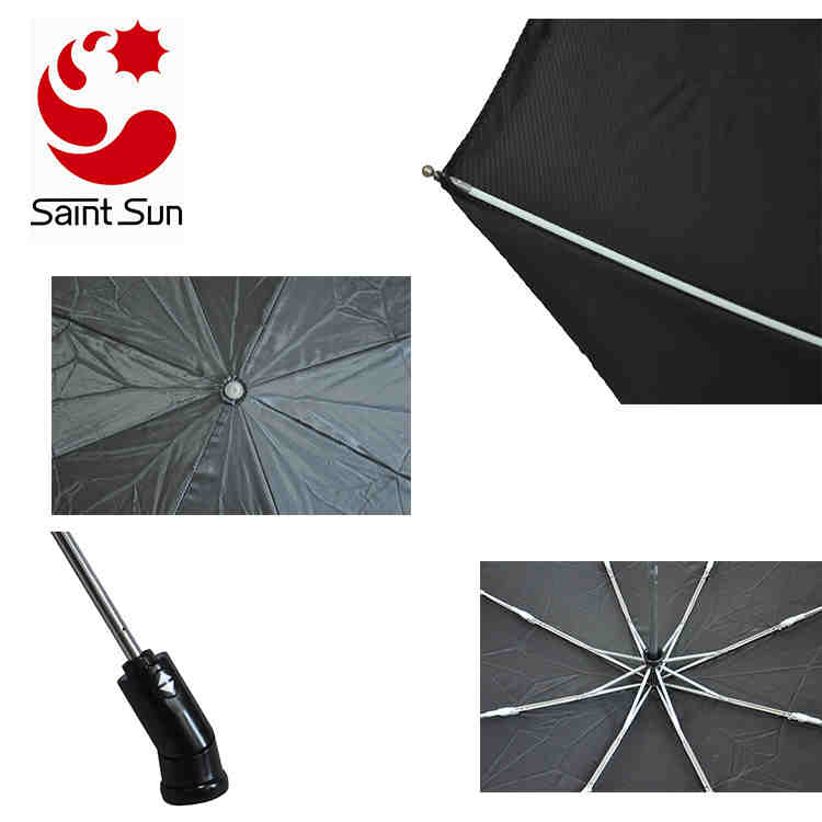 Auto Open And Close 3 Fold travel Umbrella with LED Light