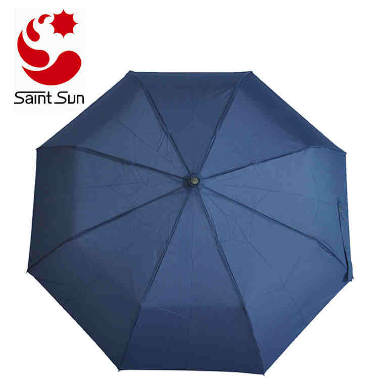 Auto Open And Close Travel Umbrella With Wooden Handle