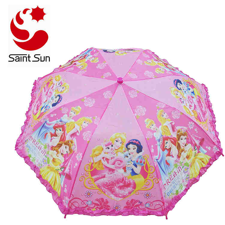 Two Section Frilly cartoon transfer - overall printing  Children Backpack umbrella Of 2018 Hot Sales