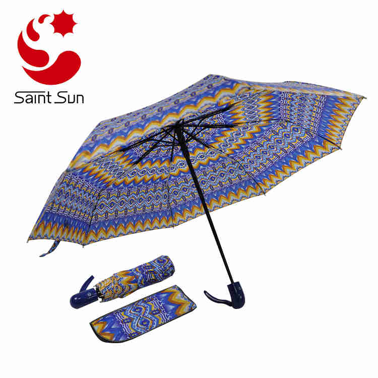 Windproof Waterproof Automatic Fashion Best Heat Transfer Printing Travel Umbrella
