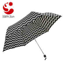 Super slim manual open folding umbrella for women