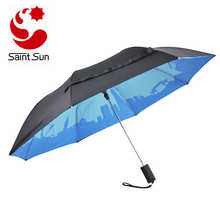 21 inch Two fold small customized Double Layer umbrella
