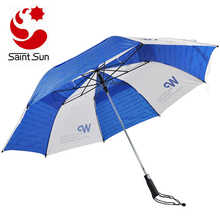 Most popular customized auto open wind vented two fold golf umbrella