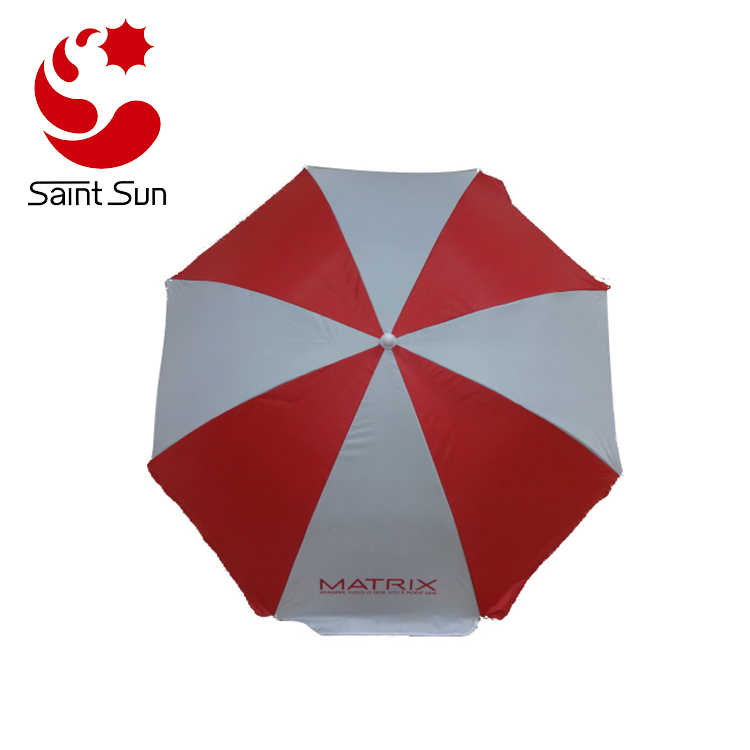 Factory Cheap Price Customized Print Silver Coating Small Beach Umbrella
