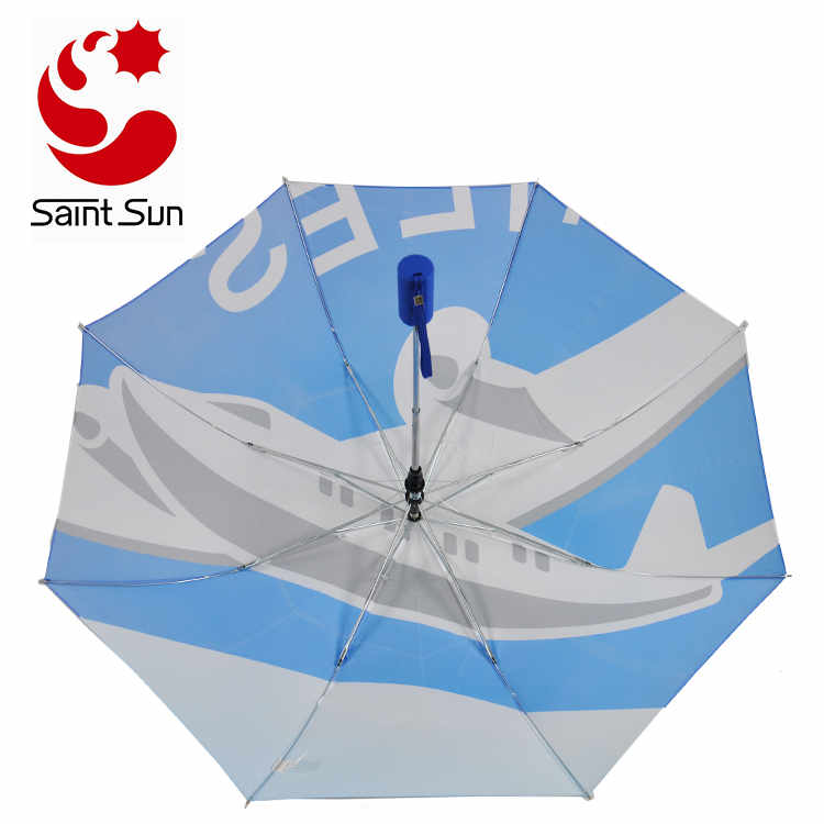 Well Connected Heat Transfer Printing 2 fold standard promotional umbrella