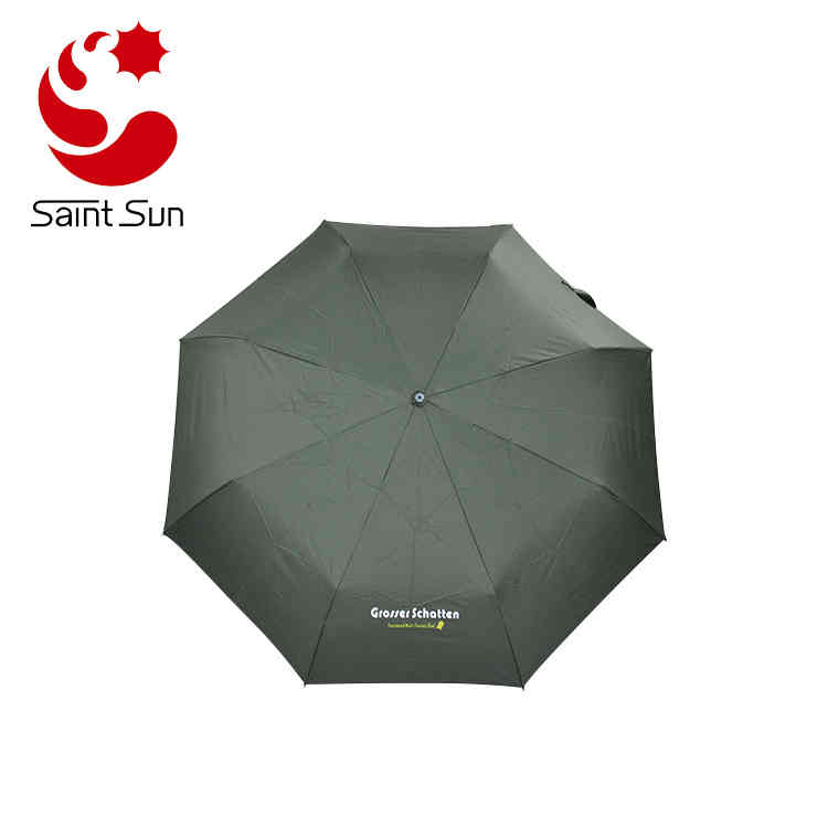 Super light aluminum frame 3 fold pocket umbrella with silver coating fabric