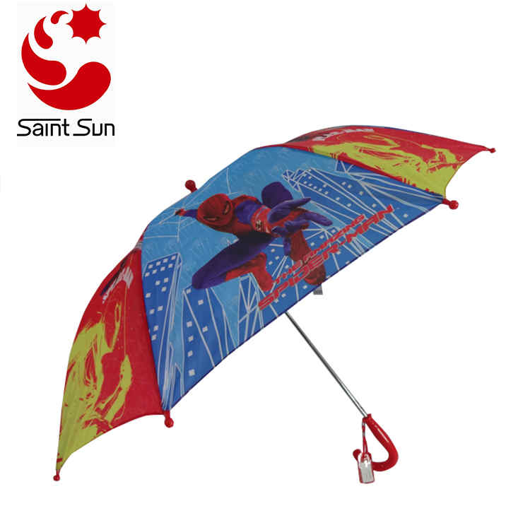 Hot Selling the Coolest Boy cartoon transfer printing Kids Umbrella From BSCI & Sedex Factory