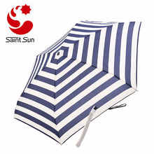 Mini Pocket 5 Folding Compact Princess Anti UV Sun Rain Umbrella Women Parasol
