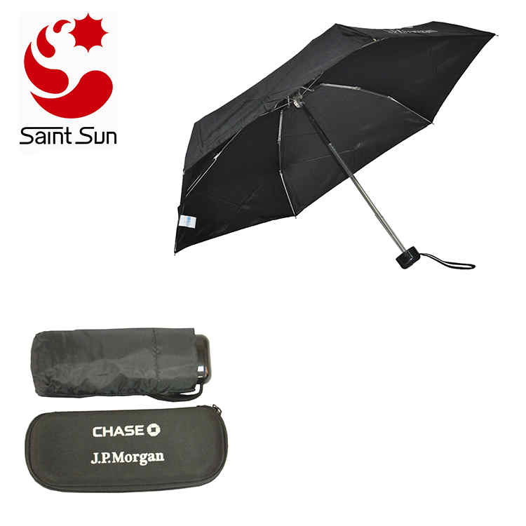 Mini Pocket 5 Folding Promotion Compact Umbrella with EVA Case