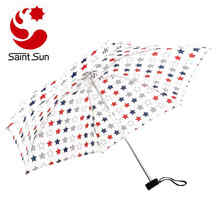 Mini Umbrella Push Button Retractable Womens Printing Pocket Umbrella