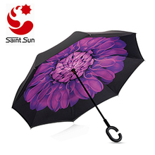 Manual Open and Auto Close Cheap Inverted Umbrellas First generation Reverse straight umbrella  reverse umbrella