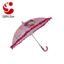 Kids umbrella with ruffles Easy Open  Kids Umbrella